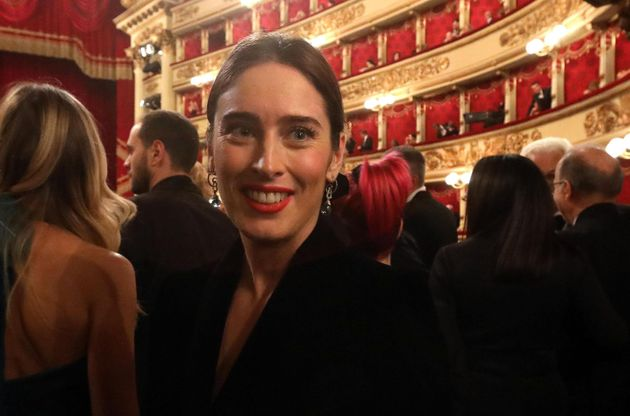 Maria Elena Boschi, member of Italia Viva party, attends the La Scala opera house's gala season opener,...