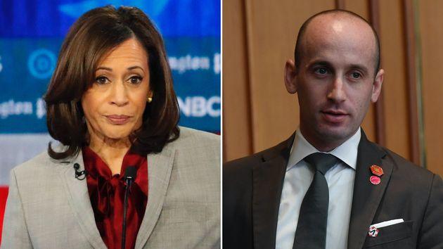 Sen. Kamala Harris (D-Calif.), and White House Senior Adviser Stephen