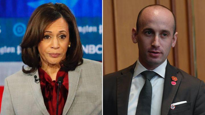 Kamala Harris (D-Calif.), and White House Senior Adviser Stephen Miller.