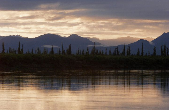 The Brooks Range Mountains near Arctic Village, Alaska, which is north of Venetie, where two children walked a half a mi