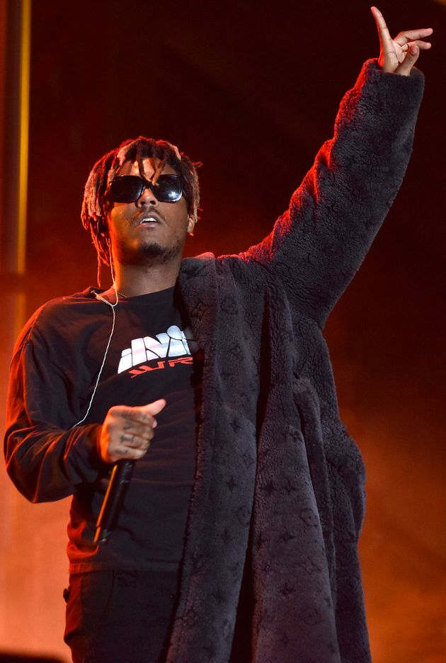 OAKLAND, CALIFORNIA - SEPTEMBER 29: Juice Wrld performs during the 2019 Rolling Loud Music Festival at...