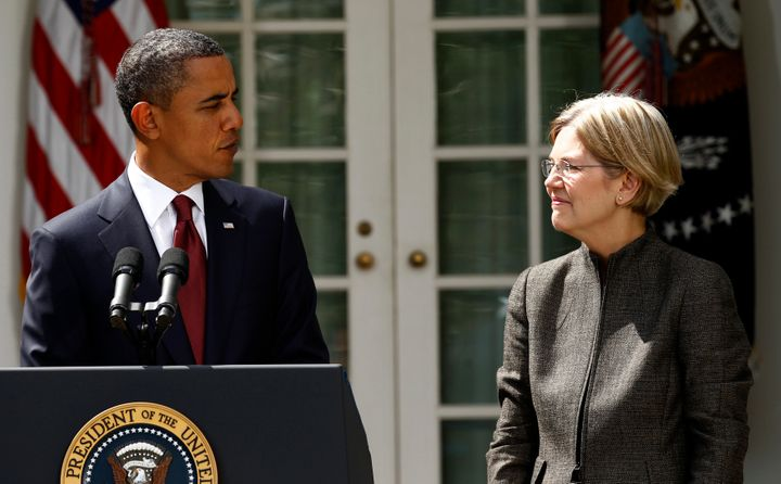 President Barack Obama announces Elizabeth Warren as a special adviser to lead the creation of the Consumer Financial Protect