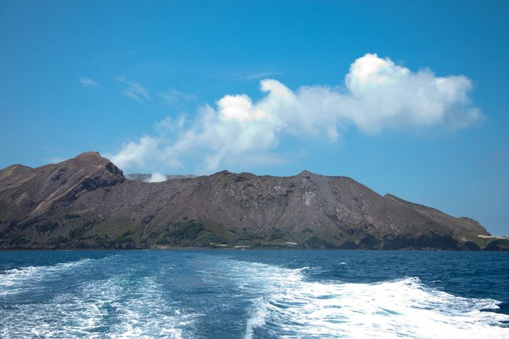 This photo, taken in 2010, shows White Island. It sits about 30 miles off the coast of New Zealand's North Island. (Photo by