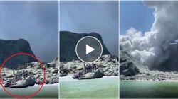 Il vulcano si risveglia all'improvviso in Nuova Zelanda. I turisti scappano in gommone
