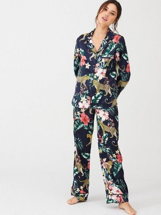 Satin Tropical Pyjama Set, Very, £32