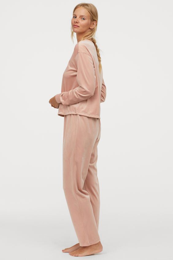 Velour Pyjamas, H&M, £24.99