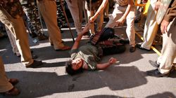 JNU Students Lathi-Charged By Police During March To Rashtrapati