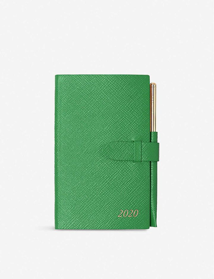 """<a href=""""https://fave.co/36iXXxG"""" target=""""_blank"""" rel=""""noopener noreferrer"""">Smythson Panama Leather Diary and Pencil, Selfridges,</a> &pound;79"""
