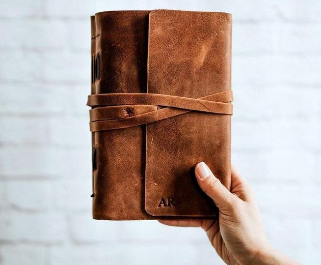 Personalised Leather-Bound Diary, Etsy, £33.63