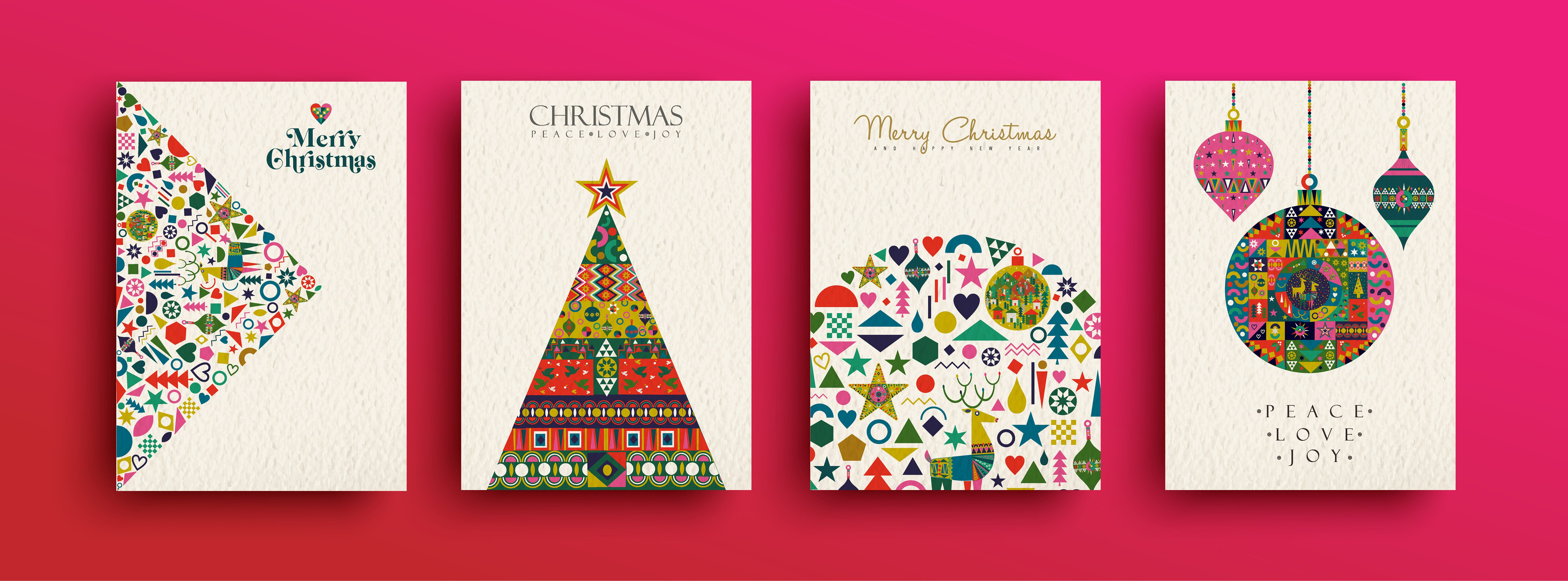 Neighbours and Friends at Christmas Traditional Christmas Greetings Card