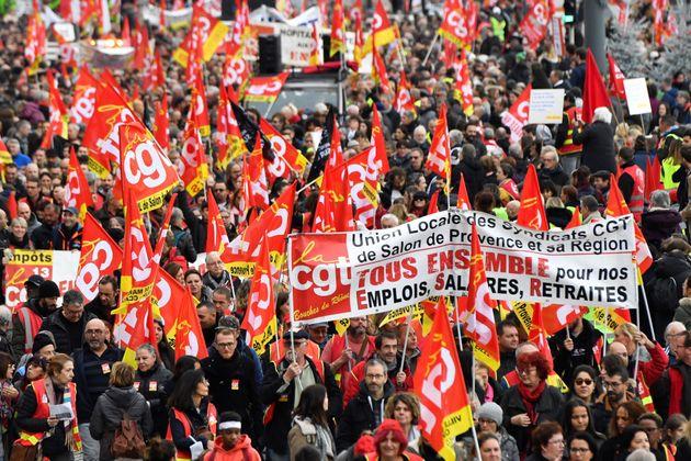 La manifestation du 5 décembre contre la réforme des retraites à