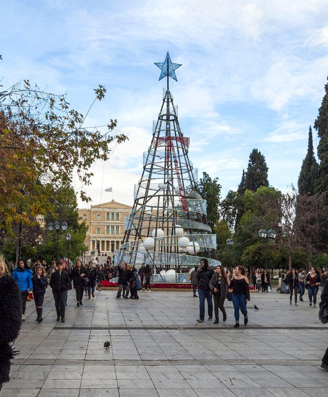 Η εικόνα του δέντρου του 2017 την ημέρα