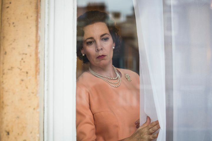 "Olivia Colman in ""The Crown,"" which received four Golden Globe nominations."