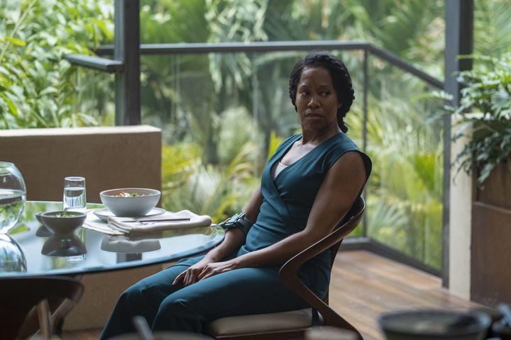 "Regina King in ""Watchmen."""