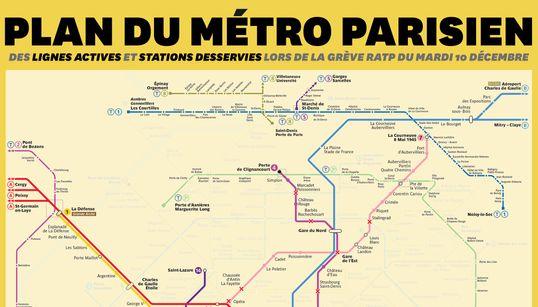 La carte RATP des