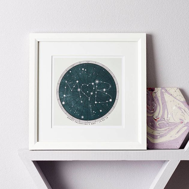 Personalised Star Map Print, Not On The High Street, £22