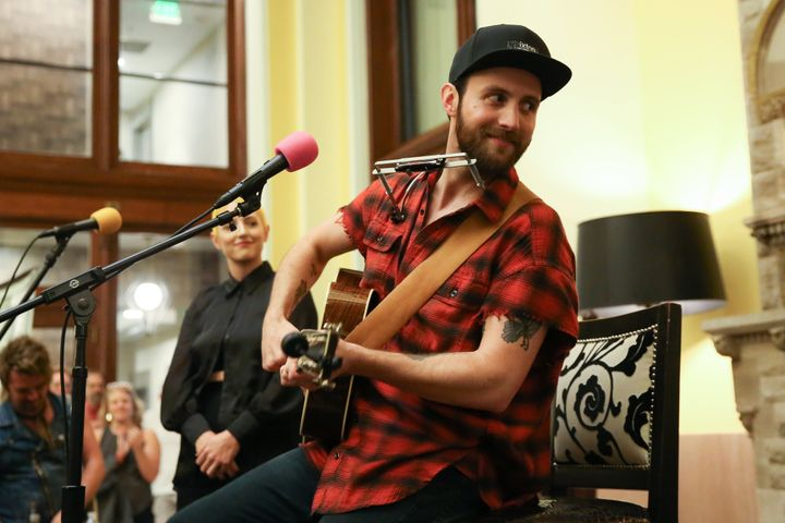 Ruston Kelly performs at Union Station Hotel on Sept. 13, 2019, in Nashville, Tennessee.