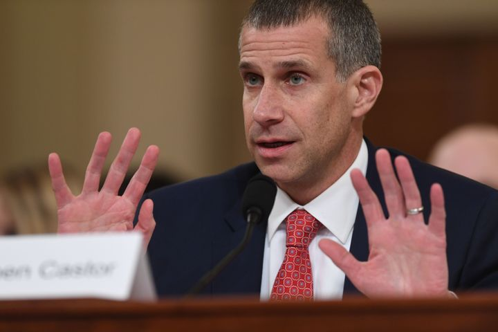Minority Counsel Stephen Castor testifies during the House Judiciary Committee hearing as part of the impeachment inquiry int