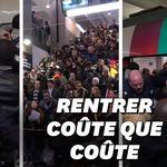 Les images oppressantes des tensions entre voyageurs et agents de sécurité gare du