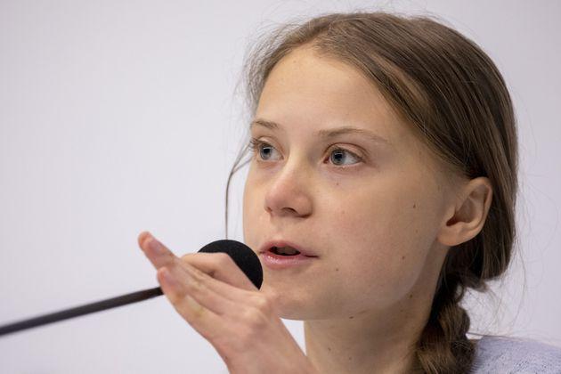 Greta Thunberg, durante su