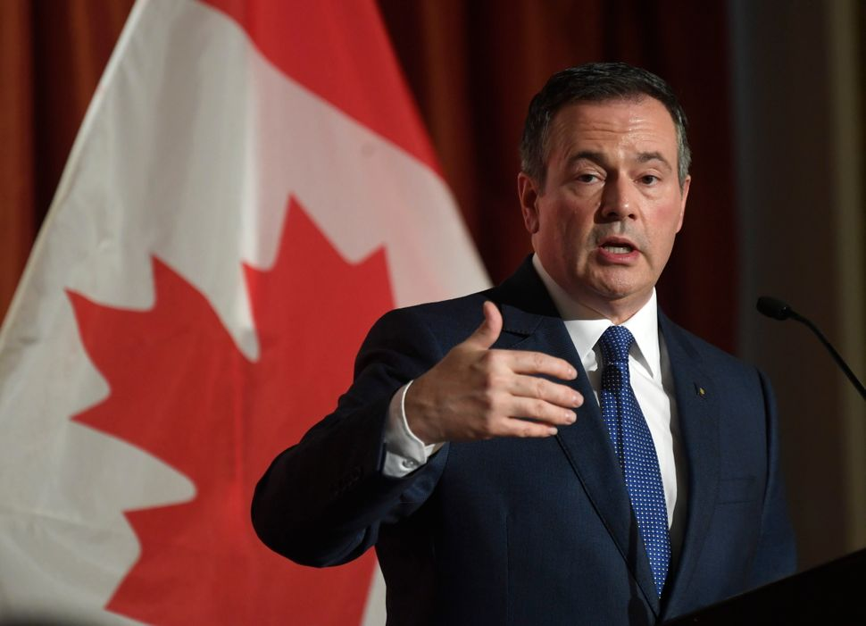 Alberta Premier Jason Kenney speaks at the Canadian Club in Ottawa on Monday Dec. 9,