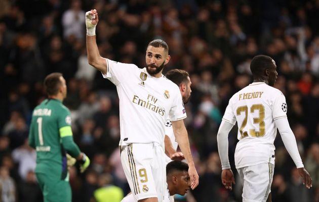 Karim Benzema, ici le 6 novembre 2019 au stade Bernadeu, a réagi à la décision de...