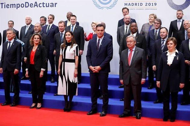 Líderes durante la inauguración de la