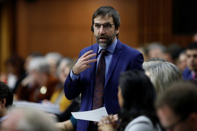 Heritage Minister Steven Guilbeault speaks during question period in the House of Commons on Parliament...