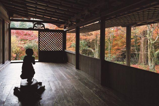 石水院廂の間。影になっているのは善財童子像=高山寺提供