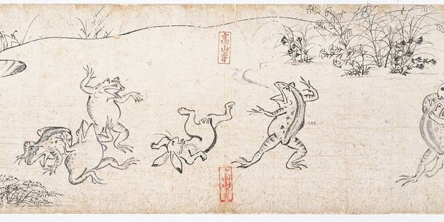 鳥獣戯画=高山寺提供