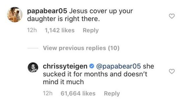Chrissy Teigen Savages Commenter Who Criticised Her 'Revealing'