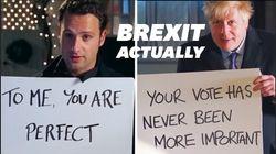 """Boris Johnson parodie le film """"Love Actually"""" dans un clip de"""