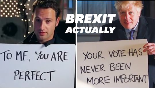 "Boris Johnson parodie le film ""Love Actually"" dans un clip de"