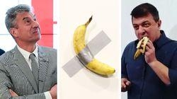 La risposta di Cattelan all'artista che ha mangiato la sua banana è