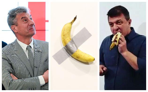 "Risultato immagini per banana cattelan"""
