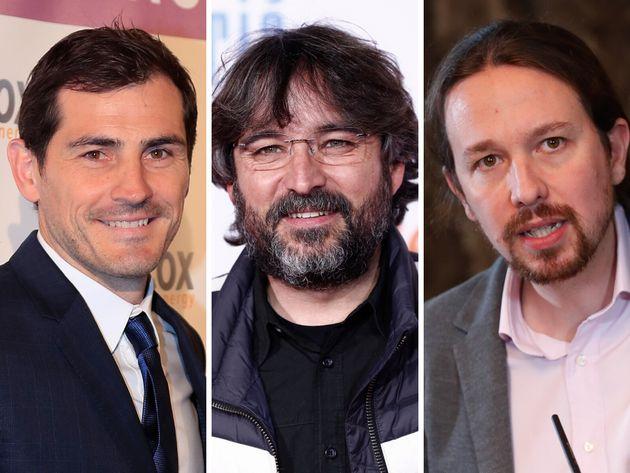 Iker Casillas, Jordi Évole y Pablo
