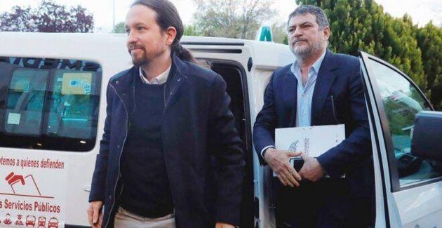 Pablo Iglesias junto a su hasta ahora jefe de Gabinete, Pablo