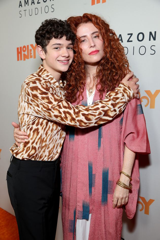 Alma Har'el with Noah Jupe, the star of Honey