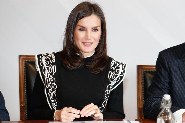 La reina Letizia, el 10 de diciembre de 2019 en la reunión con el Patronato de la