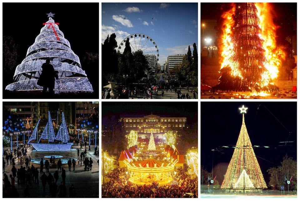 Χριστουγεννιάτικα δέντρα στην πλατεία Συντάγματος: Τι έχουμε δει τα τελευταία 25