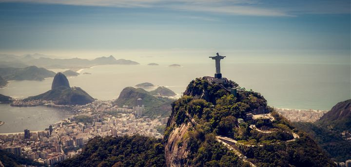 Top of the world in Rio, Brazil.