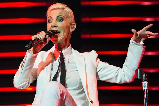 La cantante de Roxette, Marie Fredriksson, en The O2 Arena el 13 de julio de 2015 en Londres, Reino