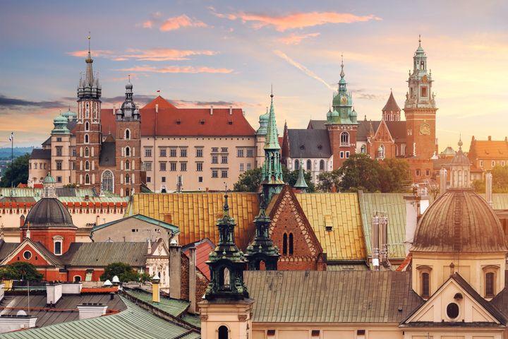 Krakow landmarks.