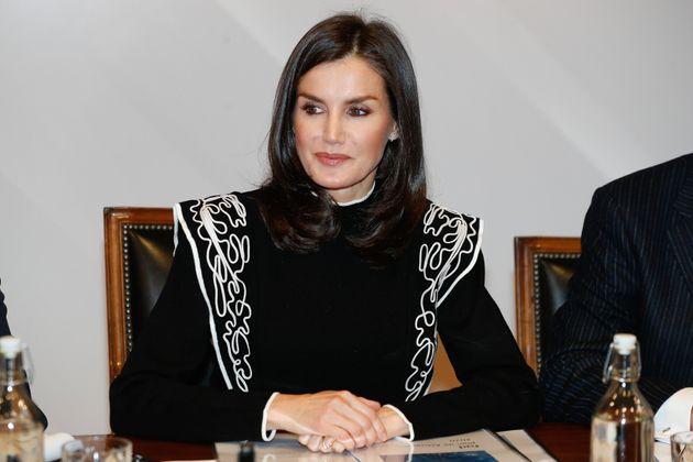Letizia en la reunión del Patronato de la Fundación de Ayuda Contra la