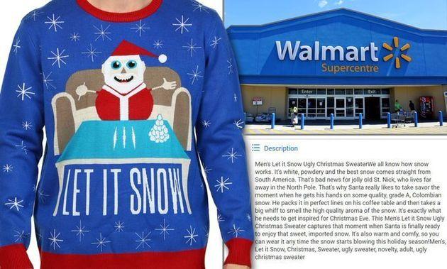 Walmart retire de son site canadien un pull de Noël faisant l'éloge de la