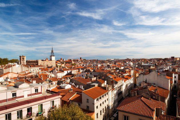 Une vue aérienne de Perpignan. (photo