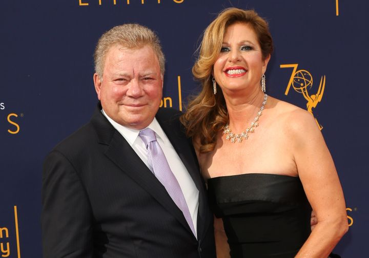 William Shatner (left) has filed for divorce from his wife of 18 years, Elizabeth Shatner.