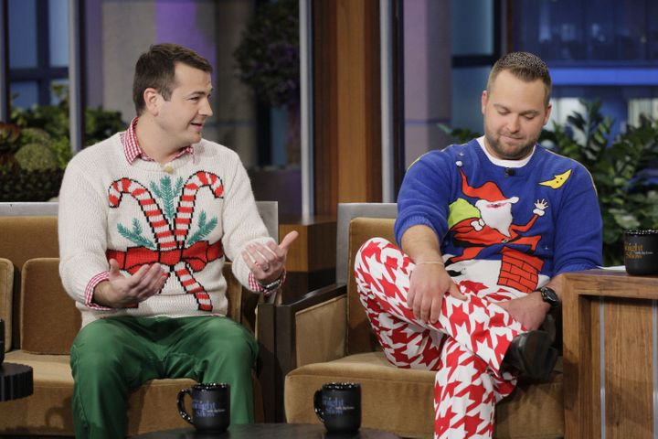 "Brian Miller, left, with co-founder Adam Paulson, on ""The Tonight Show"" in December 2011."