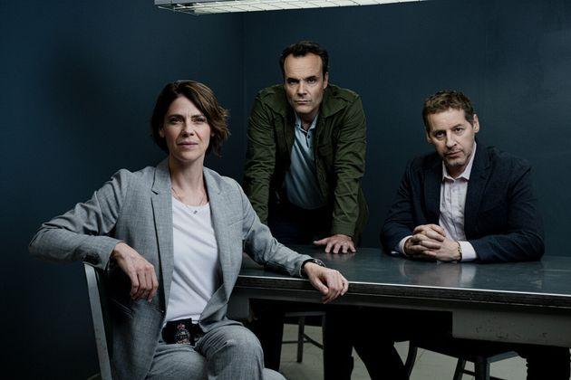 Hélène Florent, Jean-Michel Le Gal et Gabriel Sabourin forment un trio d'enquêteurs...