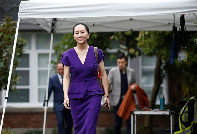 Meng Wanzhou leaves her home in Vancouver on Sept. 23,